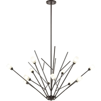 Picture for category World of Lamp WLA385358 Chandeliers Oil Rubbed Bronze Glass/Steel Menkent