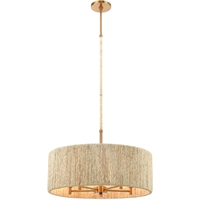 Picture for category World of Lamp WLA385480 Pendants Satin Brass Abaca/Steel Caph