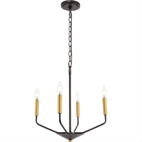 Picture for category Living District LD8023D18BK Pendants Black and Brass  Enzo