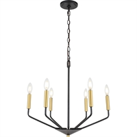 Picture for category Living District LD8026D22BK Pendants Black and Brass  Enzo