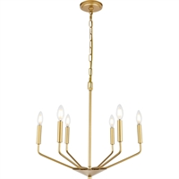 Picture for category Living District LD8028D22BR Pendants Brass  Enzo
