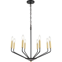 Picture for category Living District LD8029D25BK Pendants Black and Brass  Enzo