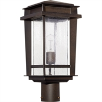 "Picture for category Outdoor Post Light 1 Light Fixtures with Oiled Bronze Finish Medium Incandescent Bulb 8"" 100 Watts"