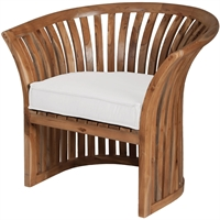 Picture for category Guild Master 2317003WO Furniture White Fabric,Foam Teak