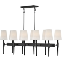 "Picture for category Island Lighting 10 Light Fixtures with Black Finish Steel Material Candelabra 48"" 600 Watts"