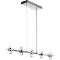 Picture for category Elan Lighting 84067 Island Lighting Polished Nickel Glass Arabella