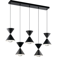 Picture for category Elan Lighting 84113 Island Lighting Matte Black and Polished Nickel Steel Kordan