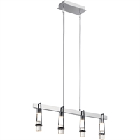 Picture for category Elan Lighting 84127 Island Lighting Chrome and Matte Black Steel Ayse