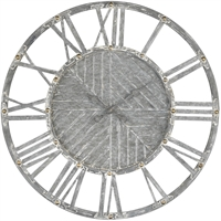 Picture for category Dimond Home 351-10732 Clock Galvanized Steel with Antique White Metal Janice