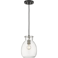 Picture for category World of Style WOS398473 Mini Pendants Matte Black and Brushed Nickel Steel Bun and Baker