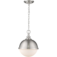 "Picture for category Mini Pendants 2 Light Fixtures with Brushed Nickel Finish Steel Material Medium 12"" 120 Watts"