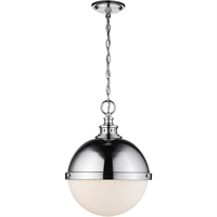 "Picture for category Pendants 2 Light Fixtures with Chrome Finish Steel Material Medium 15"" 120 Watts"