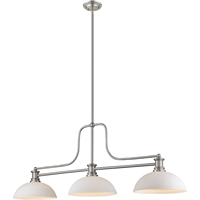 "Picture for category Chandeliers 3 Light Fixtures with Brushed Nickel Finish Steel Material Medium 13"" 300 Watts"