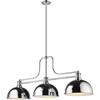 "Picture for category Chandeliers 3 Light Fixtures with Chrome Finish Steel Material Medium 13"" 300 Watts"