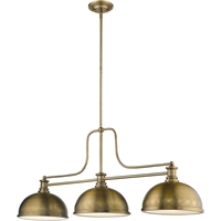 "Picture for category Chandeliers 3 Light Fixtures with Heritage Brass Finish Steel Material Medium 13"" 300 Watts"