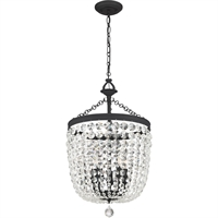 Picture for category Crystorama Lighting 785-BF-CL-MWP Chandeliers Black Forged Steel and Crystal Archer