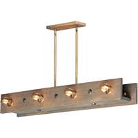 Picture for category Maxim Lighting 25247WWDAB Island Lighting Weathered Wood and Antique Brass Wood/Steel Plank