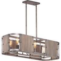 Picture for category Maxim Lighting 25268BWWZ Island Lighting Barn Wood and Weathered Zinc Wood/Steel Outland