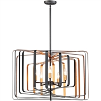 Picture for category Maxim Lighting 28677BKGLD Pendants Black and Gold Steel Radial