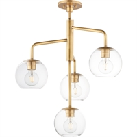 Picture for category Maxim Lighting 38414CLNAB Pendants Natural Aged Brass Brass/Glass Branch