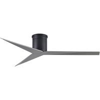 Picture for category Matthews Fan Company EKH-BK-BN Indoor Ceiling Fans Matte Black Cast Aluminum/Heavy Stamped Steel/ABS Eliza-H