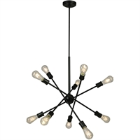 Picture for category Eglo Lighting 203947A Pendants Black Steel Etris Row