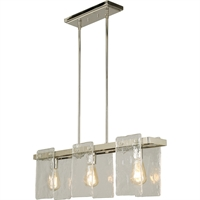 Picture for category Eglo Lighting 203996A Island Lighting Polished Nickel Steel/Glass Wolter