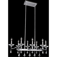 "Picture for category Island Lighting 8 Light Fixture with Chrome Tone Finish E12 Candelabra 40"" 320 Watts"