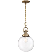 Picture for category Nuvo Lighting 60/6671 Pendants Burnished Brass Metal and Glass Skyloft