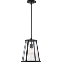 Picture for category Nuvo Lighting 60/6699 Pendants Matte Black Metal and Glass Bruge