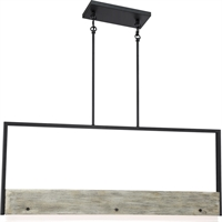Picture for category Nuvo Lighting 62/1553 Island Lighting Black Steel Alta