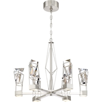 Picture for category Zeev Lighting CD10253/LED/SN Chandeliers Satin Nickel  Gem