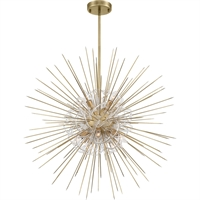 Picture for category Zeev Lighting CD10264/8/AGB Chandeliers Aged Brass with Acrylic  Flare