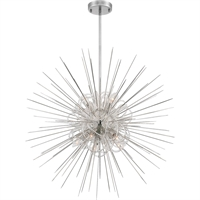 Picture for category Zeev Lighting CD10265/8/PN Chandeliers Polished Nickel with Acrylic  Flare