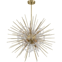 Picture for category Zeev Lighting CD10266/8/AGB Chandeliers Aged Brass with Acrylic  Flare