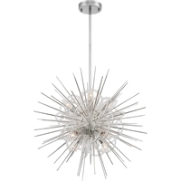 Picture for category Zeev Lighting CD10267/8/PN Chandeliers Polished Nickel with Acrylic  Flare