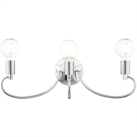 Picture for category Livex Lighting 16583-05 Bath Lighting 22in Polished Chrome Steel 3-light