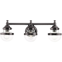Picture for category Livex Lighting 17413-46 Bath Lighting 24in Polished Black Chrome Steel 3-light