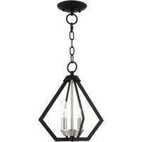 Picture for category Livex Lighting 40922-04 Semi Flush Black with Brushed Nickel Cluster Steel