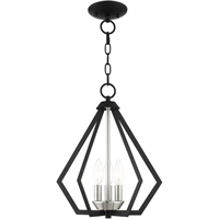 Picture for category Livex Lighting 40923-04 Semi Flush Black with Brushed Nickel Cluster Steel