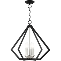 Picture for category Livex Lighting 40925-04 Chandeliers Black with Brushed Nickel Cluster Steel
