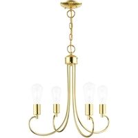 Picture for category Livex Lighting 42924-02 Chandeliers Polished Brass Steel 4-light