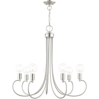 Picture for category Livex Lighting 42927-91 Chandeliers Brushed Nickel Steel 7-light
