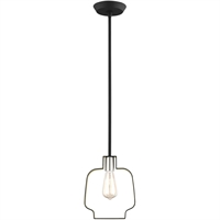 Picture for category Livex Lighting 45511-04 Pendants 8in Black with Brushed Nickel Accents Steel