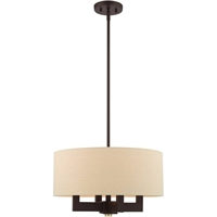 Picture for category Livex Lighting 46164-07 Chandeliers Bronze with Antique Brass Accents Steel