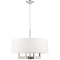 Picture for category Livex Lighting 48786-91 Chandeliers Brushed Nickel Steel 4-light
