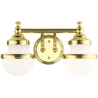 Picture for category Livex Lighting 5712-02 Bath Lighting 15in Polished Brass Steel 2-light