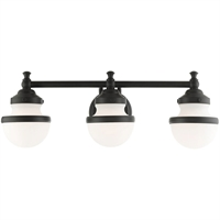 Picture for category Livex Lighting 5713-04 Bath Lighting 24in Black Steel 3-light