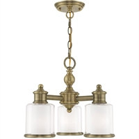 Picture for category Livex Lighting 40203-01 Mini Chandeliers Antique Brass Steel Middlebush