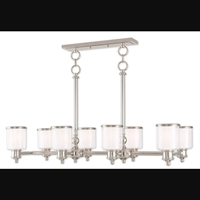 Picture for category Livex Lighting 40208-35 Island Lighting Polished Nickel Steel Middlebush
